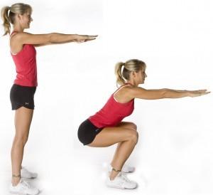 O agachamento é um dos exercícios fortalecedores dos joelhos