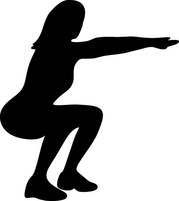 O agachamento ajuda a fortalecer a lombar quando efetuado de maneira correta.