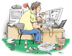 A tecnologia consome o homem- Foto Reprodução